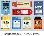 vintage luggage tags  travel... | Shutterstock .eps vector #469731998