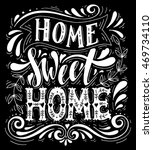 home sweet nome.inspirational... | Shutterstock .eps vector #469734110