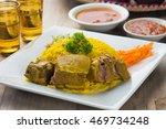 kabsa lamb  popular arab lamb...   Shutterstock . vector #469734248