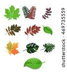 colorful leaf vector | Shutterstock .eps vector #469735559