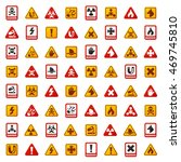 attention icons danger button... | Shutterstock .eps vector #469745810