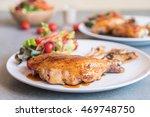 grilles chicken steak with... | Shutterstock . vector #469748750