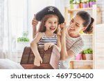 happy family is preparing for a ... | Shutterstock . vector #469750400