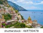 positano city  amalfi coast ...   Shutterstock . vector #469750478