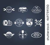 white mechanic garage badges... | Shutterstock .eps vector #469759550