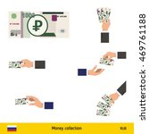 set of saudi russian ruble....   Shutterstock .eps vector #469761188
