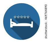 bed icon  vector  icon flat
