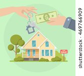 buying a house. real estate and ... | Shutterstock .eps vector #469766909