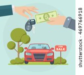 buying new car. rental or sale... | Shutterstock .eps vector #469766918