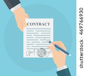 hand signing contract.... | Shutterstock .eps vector #469766930
