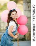 happy girl 10 years old with... | Shutterstock . vector #469768160
