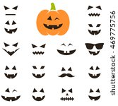 set of faces for halloween... | Shutterstock .eps vector #469775756