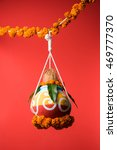 Small photo of photograph of actual dahi handi on gokulashtami festival which is Lord Shri Krishna's birth day