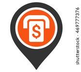 atm map marker icon. vector... | Shutterstock .eps vector #469777376