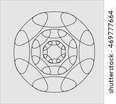 geometric pattern on a gray... | Shutterstock .eps vector #469777664
