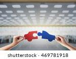 teamwork concept hand holding... | Shutterstock . vector #469781918