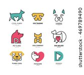 set of logotypes with dogs. dog ... | Shutterstock .eps vector #469789490