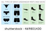 all types of men's underwear... | Shutterstock .eps vector #469801430