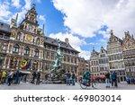grote markt square in antwerp ... | Shutterstock . vector #469803014