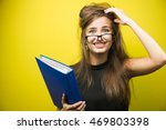 portrait of a young stressed... | Shutterstock . vector #469803398