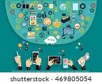 vector businessman using modern ... | Shutterstock .eps vector #469805054