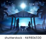 christmas nativity scene of... | Shutterstock .eps vector #469806530