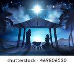 christmas nativity scene of... | Shutterstock .eps vector #469806530