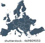 map of europe | Shutterstock .eps vector #469809053