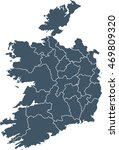 map of ireland | Shutterstock .eps vector #469809320