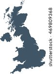 map of united kingdom | Shutterstock .eps vector #469809368