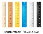 colored plastic and wooden... | Shutterstock .eps vector #469816460