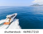 luxury motor boat  rio yachts... | Shutterstock . vector #469817210