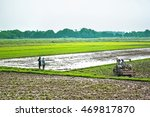 Farmers Watching The Tractor I...