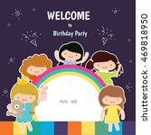 happy birthday card | Shutterstock .eps vector #469818950