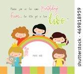happy birthday card | Shutterstock .eps vector #469818959