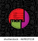 restaurant menu card design... | Shutterstock .eps vector #469819118