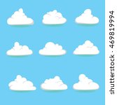 set of vector clouds for your... | Shutterstock .eps vector #469819994