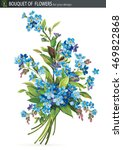 beautiful bouquet of blossoming ... | Shutterstock .eps vector #469822868