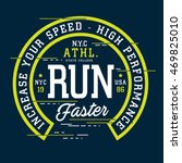 athletic sport run typography ... | Shutterstock .eps vector #469825010