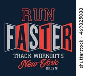 athletic running sport... | Shutterstock .eps vector #469825088