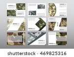 set of veterans day brochure ... | Shutterstock .eps vector #469825316