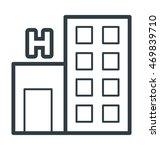 hospital vector icon | Shutterstock .eps vector #469839710