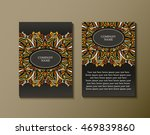 flyer template with abstract... | Shutterstock .eps vector #469839860