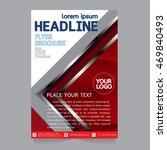 vector brochure flyers design... | Shutterstock .eps vector #469840493