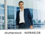 fashion portrait of an handsome ... | Shutterstock . vector #469848158