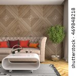 interior with sofa. 3d...   Shutterstock . vector #469848218