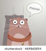 surprised cat. cartoon style... | Shutterstock .eps vector #469860854