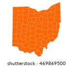 map of ohio | Shutterstock .eps vector #469869500