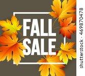 autumn seasonal banner design.... | Shutterstock .eps vector #469870478