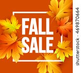 autumn seasonal banner design.... | Shutterstock .eps vector #469870664